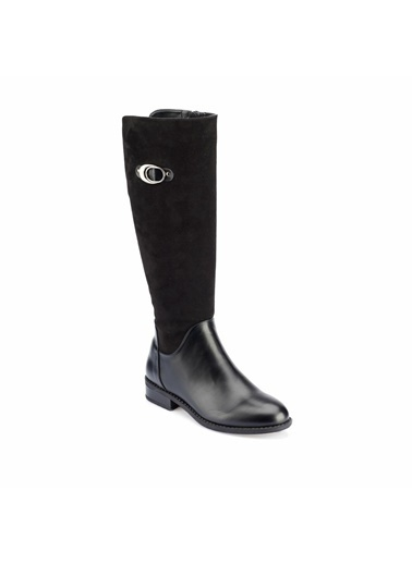 Polaris Fermuarlı Çizme Siyah